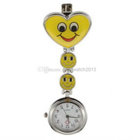Wholesale Fashion Style Nurse Watch Heart Nurse Quartz Pocket Watch Pin Brooch Portable watch hanging fashion