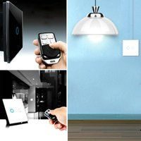 Wholesale Hot Smart Gang Control Glass Crystal LED White Panel Wall Light Switch EU hot new