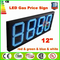 Wholesale Factory Gas station led price sign inches digits fuel price sign quot red green blue white