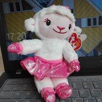 beanie babies lamb - PC CM TY BEANIE Babies Lambie lamb sheep Doc McStuffins doctor Original hang tag kids Toys Animal Plush Dolls Stuffed Animals