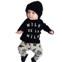 baby pine - Hot Baby Girls Boys Outfits Set Spring Autumn Sets Cotton Tops Long Sleeve T Shirts Pine nuts Pants Kids Clothes piece sets BH2423