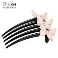 Wholesale Chaplet High Quality Fashion Womens Hair Accessories Rhinestone Hair Combs Butterfly Hair Jewelry Ladies Hair Combs