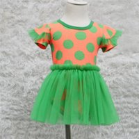 baby dress manufacturer - manufacturer direct summer baby girl green polka dot o neck short sleeve tulle tutu romper dress