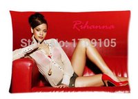 american oxygen - rihanna american oxygen in red Personalized Roomy Soft Zippered Pillow Case x30 Inch New Year Gift