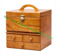 Wholesale Top Grade Brown Canvas Coated TOILETRY CASE M21826 Wooden Hard Bag