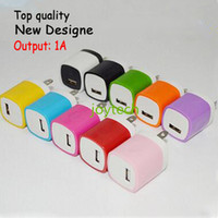 Wholesale Universal Single Micro USB charger wall usb charger plug cellphone charger adapter for samsung LG HTC mobile phone with colors