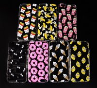 Cheap funny cases transparent soft back shell with moving eyes cartoon chips donuts banana for iphone6 6 plus cover i phone 5s case