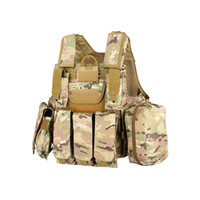 Wholesale New Arrival Tactical Vest Multi Color D Oxford fabric MOLLE System for Outdoor CL4
