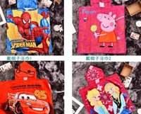 Wholesale creative cartoon frozen Despicable Me spiderman The Avengers paw patro kid children s bath towel with robe beach summer autumn kid gift