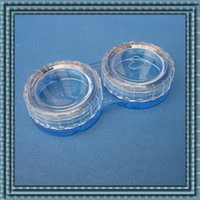 Wholesale In business contact lens case Colourful Contact Lens Box Holder Container Case Soak Soaking Storage Eye Care Kit Double Case