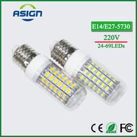 Wholesale LED Corn Bulb E27 E14 SMD LED Bulbs Lamp leds leds leds leds leds V Degree LED Corn Bulb Light Chandelier