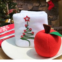 artificial fruit trees - 50pcs foam Apple Tree Hanging Accessories Christmas Decoration Ornament Xmas Gift Artificial Fruit Model