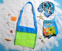 beach towel pocket - Built your Brand Custom Logo New Family Mesh Beach Bag Tote Backpack Toys Towels Sand Away