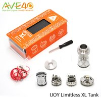 atomizer system - IJOY LIMITLESS XL TANK Sub Ohm Atomizer with RTA Funtion mm ml Capacity Top Fill System Max out put w fit LUX Mod