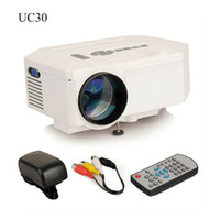 Wholesale MINI Projector UC30 LED Projector Portable Mini HD P Home D Theater Cinema Movie Projector Kid s GIft