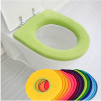 acrylic cushion covers - Warmer Toilet Seat Cover for Bathroom Products Pedestal Pan Cushion Pads Lycra Use In O shaped Flush Comfortable Toilet Random free shiping