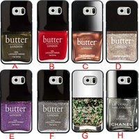 Wholesale Eye Catching Colorful Pertty Nail Polish makeup Cell Phone Case for Samsung galaxy S3 S4 S5 S6 samsung Note note3 note4 Back cover case