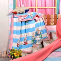 Wholesale 150 cm Warm And Lovely Prison Break Rabbit Pattern Summer Quilt Cotton Fabric Soft Close Fitting Touch