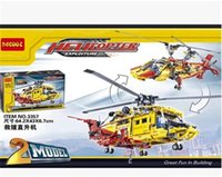 Wholesale Helicopter Science and technology mechanical group assembled blocks puzzle plane toy