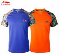 li ning - 2016 China Table Tennis Super League Shirts Li Ning Professionals Table Tennis Shirts PingPong Sport Shirts Tennis T shirt