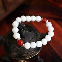 arena products - Natural white red agate bracelet original jewelry Cheng Qu men and women hand on new products arena recruit agents