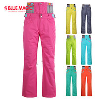 Wholesale clearance bluemagic solid color Snowboard Pants for women Waterproof Skiing and Snowboarding Snow Pant Breathable Ski Pants