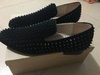 venda por atacado sapatos de luxo-Wholesale Factory - ver foto real Top Luxo partes inferiores vermelhas sapatos mens matéria preta vermelho único oxfords sapatos, sapatos Marca casamento negócios