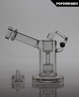 swing - 13 cm Tall Glass bongs glass mini bubbler with quartz swing glass smoking pipe WITH CAPS FC MINI V2