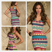 aztec bodycon dress - New Hot Fashion Vintage Aztec Print Women s Mini Dress Sexy Summer Tank Club Dresses Popular Ladies Casual Bodycon Dress Plus Size