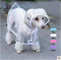 Raincoats Spring/Summer Valentine's Day 4 Colors High Quality Transparent PVC Pet Coat Dress Dog Rainwear Raincoat Pets Products Roupa Para Cachorro Raincoat CCA4804 100pcs