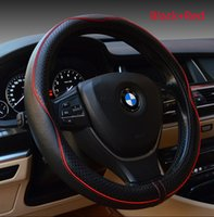 Wholesale Multicolor Genuine Leather Steering Wheel Covers for BMW Buick Cruze Volkswagen Nissan Steering Wheel High Quality Embossing Cover Hot Sell