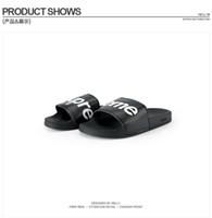 house slippers men - 2016 slipper ss sup black red summer house shoe men slippers Men Flats Sandals Non slip Bathroom Slippers