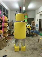 adult robot costume - Lovely Yellow Yo Gabba Gabba Plex Robot Mascot Costume For Adult Size