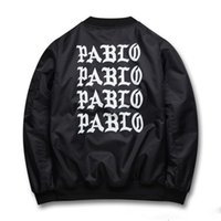 Wholesale Pablo MA1 Bomber Jackets Men Y e e z y Pablo Thick Coats Kanye WEST Bomber Jacket Men Windbreaker Sup Jackets
