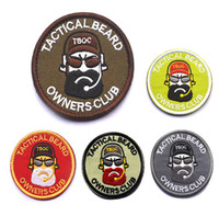 beard stick - 2 inch quot TACTICAL BEARD quot OWNERS CLUB Embroidered patch with magic stick environmental protection armband Military morale patch VP