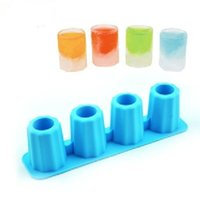 Wholesale Summer selling rectangle TPR ice box mold Cup shaped model A cup made of ice DIY Ice cube enjoy cool