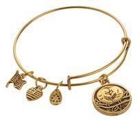 ani bird - 5PCS Silver Gold Plated Love Birds Pendant Charm Bangles Alex And Ani Expandable Wire Bracelet Fashion Jewelrys