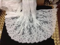 Wholesale 2015 Embroidered lace fabric Cheap for Wedding dresses Fabric african swiss voile lace High Quality apparel sewing fabric