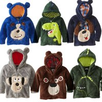 Wholesale hot Sell New Style children s clothing boys girls bear Hoodie coral Fleece cartoon dog kids sweaters jackets baby coats K473