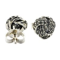 Wholesale Stud Earrings With Cubic Zircon Infinite Love Clear CZ Sterling Silver Fashion Jewelry For Women CKE060