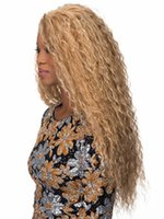 Wholesale Top quality synthetic lace front wig glueless heat resistant Afro kinky curly synthetic wigs for black women