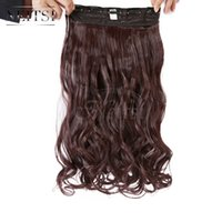 Wholesale Neitsi quot Clips Color Synthetic Clip In On Hair Extensions Curly Wavy Weave Extension Braiding Fashion Hairpiece US Local Delivery
