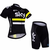 bicycle choices - 2016 Sky Team Cycling Jerseys Set Tour De France Bicycle Wear Short Sleeve Cycling Clothes With Bib pants cycling skinsuit xs xl for choice