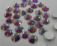 ab rhinestone jewelry - ab Round Glass Loose Beads for Jewelry Making Flat Back Rhinestone with Silver Foil for DIY Hobbies
