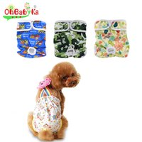 Wholesale Ohbabyka Brand Pet Dog Pants Reusable Dog Diaper Cover Nappy Changing Ployester Washable Dog Diapers Couche Lavable Panties