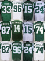 Wholesale 2016 Mens NY Jets Ryan Fitzpatrick Brandon Marshall Darrelle Revis Chris Ivory Stitched Eric Decker Jerseys