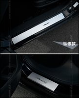 accord door sill - High quality aluminium alloy color door footplate door sills protection bar with logo for Honda Accord