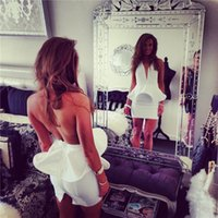 beautiful night gowns - Beautiful White Open Back Bandage Dresses Night Wear Club For American Women High Quality Party Gowns