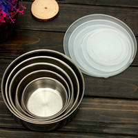 airtight food container - 5Pcs Top Grade Stainless Steel Food Container Refrigerator Crisper Storage Airtight Preserving Box Lunch Boxes Bowls