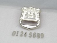 Wholesale United States New York YORK NYPD OFFICER NEW metal badges custom number